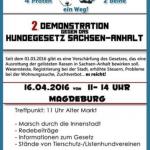 2. Demo gegen Hundegesetz in Sachsen-Anhalt